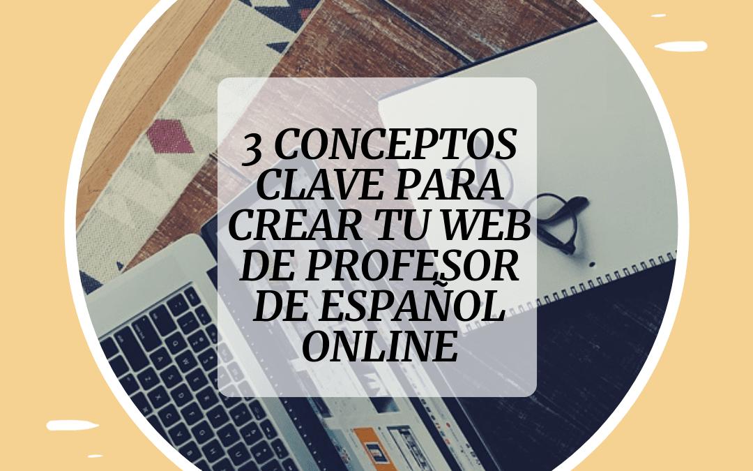 como diseñar página web profesore de idiomas